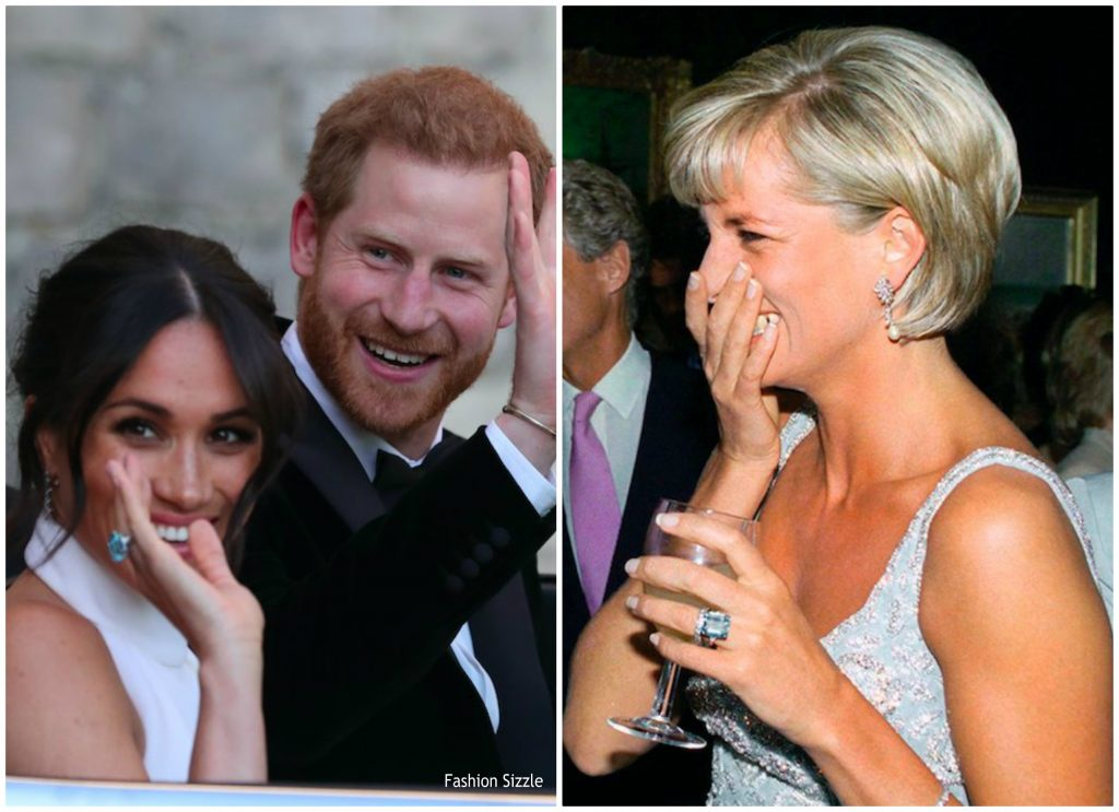 Meghan merkel, prince harry, cocktail ring, princess diana