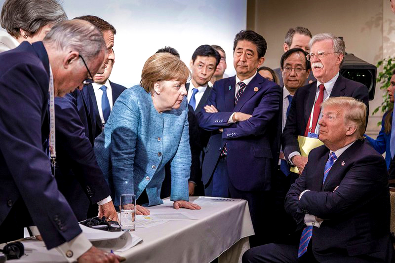 g7, angela merkel, trump, g7 summit 2018