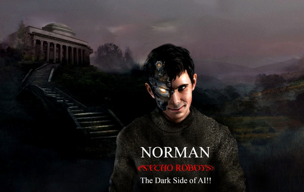 Norman Robot, psychotic robot, evil robot, psycho ai