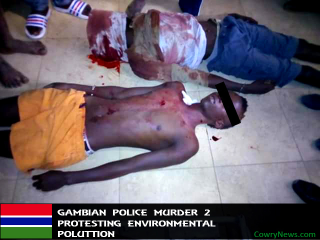 gambia environmental issue,chinese pulluting gambia, police kill 2 gambia