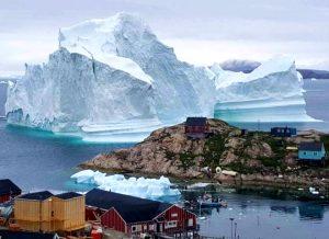 greenland iceberg crisis, greenland village