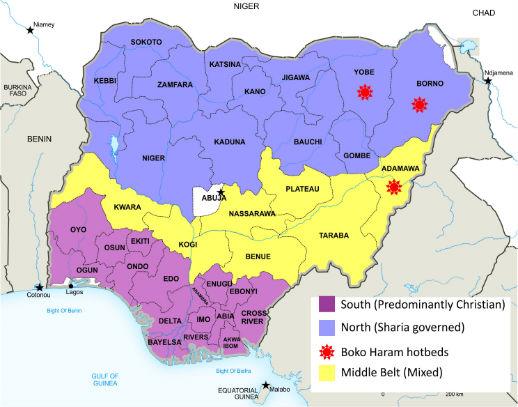 nigerian map cowry news